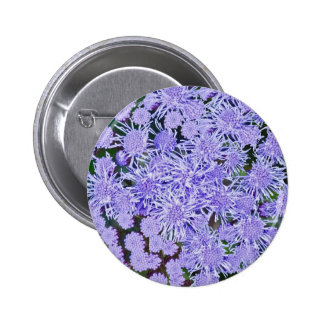 Purple garden of mums 2 inch round button