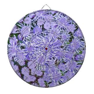 Purple garden of mums dartboard