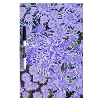Purple garden of mums dry erase board