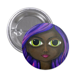 Purple Gaze 1 Inch Round Button