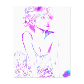 Purple Gaze Canvas Print