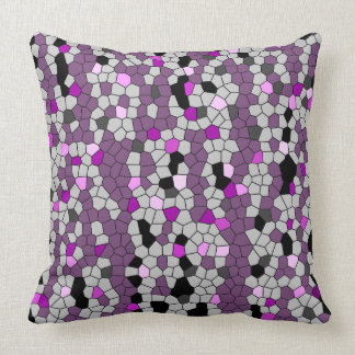Purple Gems Throw Pillow