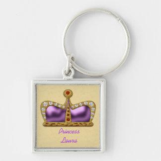 Purple Gemstone Crown Keychain