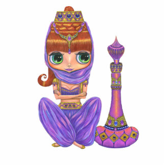 Purple Genie Doll Photo Sculpture