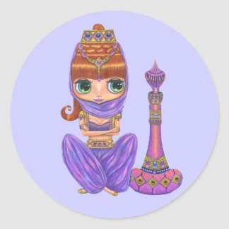 Purple Genie Sticker