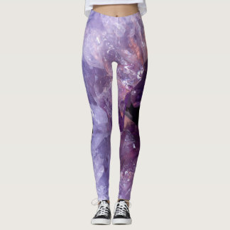 Purple Geode Design Leggings