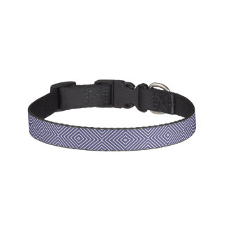 Purple Geometric Abstract Pet Collar