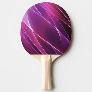 Purple Geometric Abstract Ping Pong Paddle