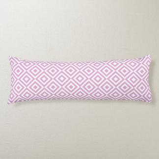 Purple Geometric Diamond Pattern Body Pillow