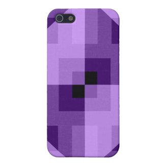 Purple Geometric Fabric Cotton Texture Triangles iPhone 5 Cases