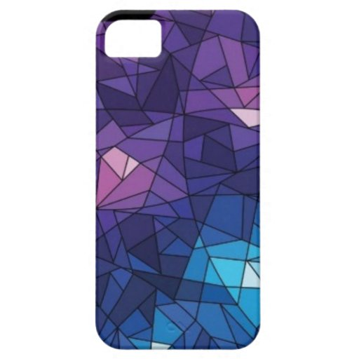 Purple Geometric Ice Cube iPhone 5/5S Cover