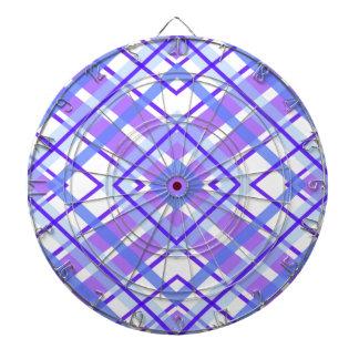 Purple Geometric Kaleidoscope pattern Dartboard