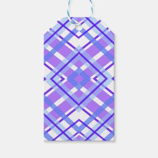 Purple Geometric Kaleidoscope pattern Gift Tags