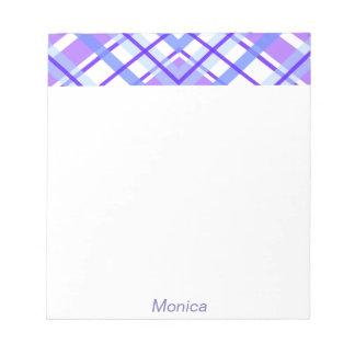 Purple Geometric Kaleidoscope pattern Notepad