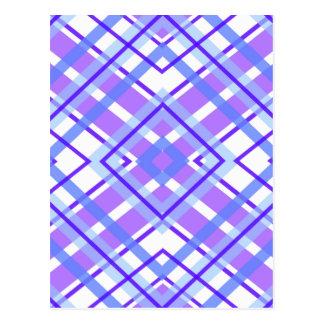 Purple Geometric Kaleidoscope pattern Postcard