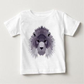Purple geometric lion design baby T-Shirt