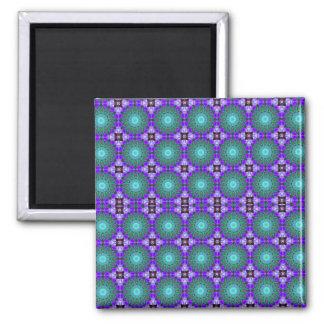 Purple Geometric Motif Magnet