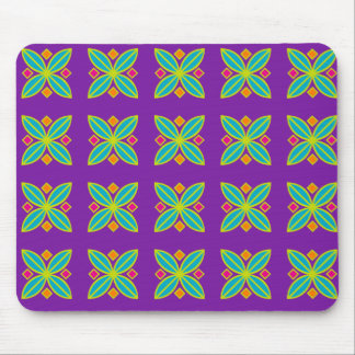 Purple geometric mouse pad