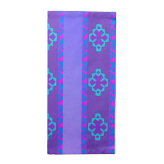 Purple geometric napkin