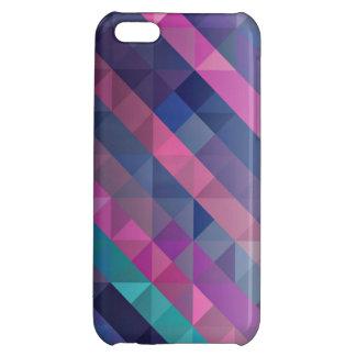 Purple Geometric Pattern iPhone 5C Cases