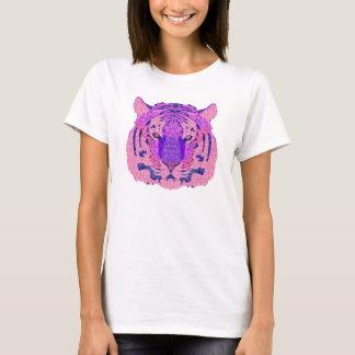 Purple Geometric Tiger T-Shirt