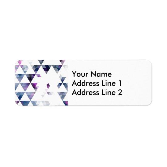 Purple Geometric Triangle Art