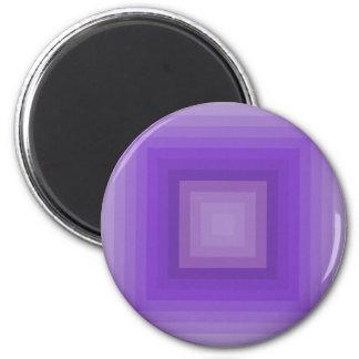 Purple geometrical pattern 2 inch round magnet