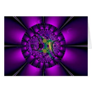 Purple Gerbera Daisy Fractal Art Card
