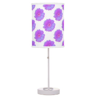 Purple gerbera daisy table lamp