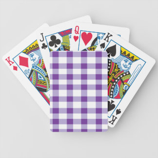 Purple Gingham Bicycle Playing Cards