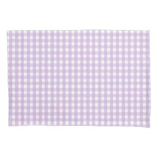 Purple Gingham Pattern Pillowcase