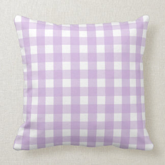 Purple Gingham Pattern Throw Pillow
