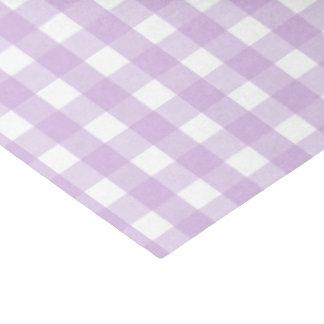 Purple Gingham Pattern Tissue Paper