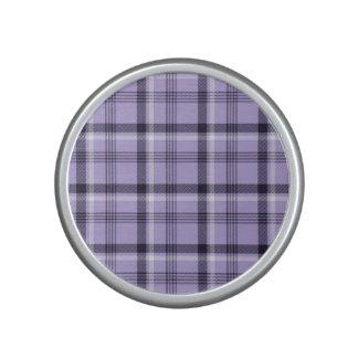 Purple Gingham Plaid Bluetooth Speaker