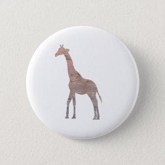 Purple Giraffe 2 Inch Round Button