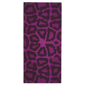 Purple Giraffe Animal Print Wood USB 2.0 Flash Drive