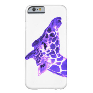 Purple Giraffe Love Barely There iPhone 6 Case