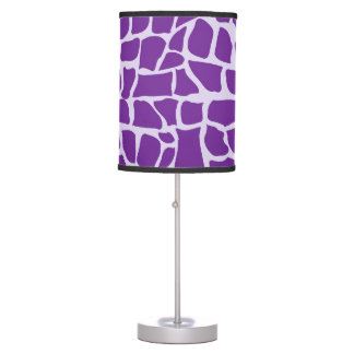 Purple giraffe pattern mosaic table lamp