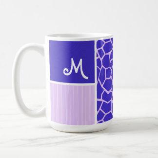 Purple Giraffe Pattern Mugs