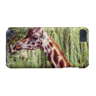 Purple Giraffe Portrait, Animal Photography iPod Touch 5G Cover