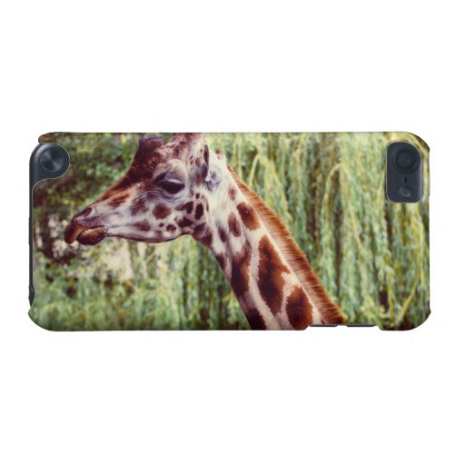 Purple Giraffe Portrait, Animal Photography iPod Touch 5G Cover