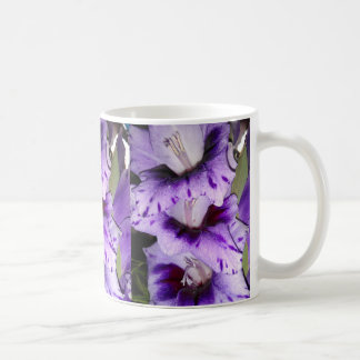 Purple Gladiolus Flolwers Coffee Mug