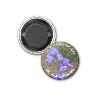 Purple Gladiolus: Personalized Magnet