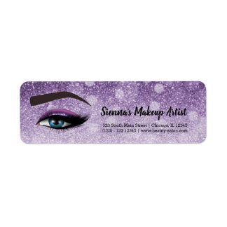 Purple glam lashes eyes | makeup artist