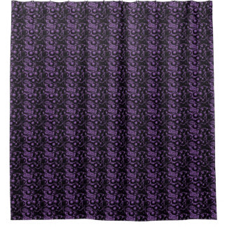 Purple Glam Pebbled Shower Curtain