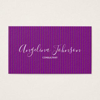 Purple Glamour Fashion Designer Artist Stylist Business Card