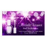 Purple Glamour NAIL TECHNICIAN Appointment Card Business Card