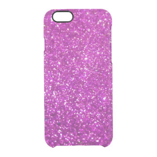 Purple Glamour Sparkley Clear iPhone 6/6S Case