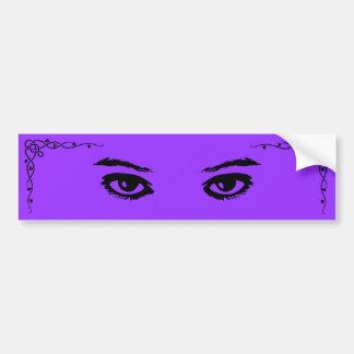 Purple Glances Bumper Sticker
