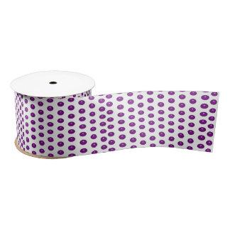 Purple Glass Dots Satin Ribbon